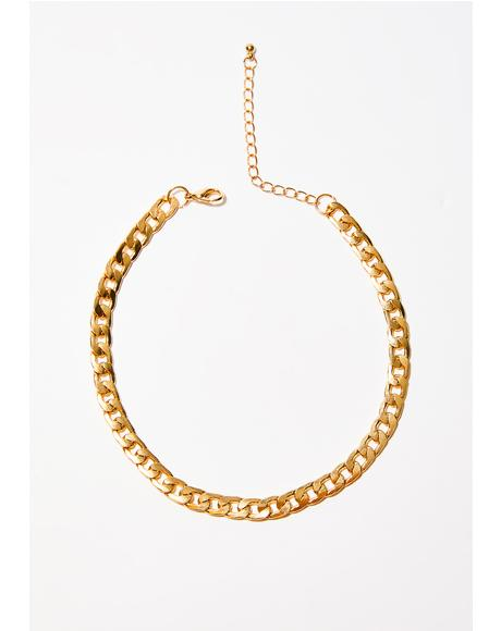 Gold Around The Way Chain Choker