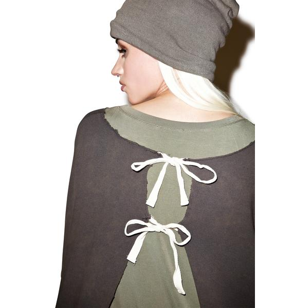 Shredder Open Back Sweatshirt