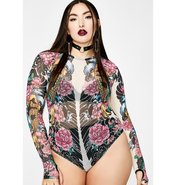 Current Mood Divine Deadly Diva Tattoo Bodysuit