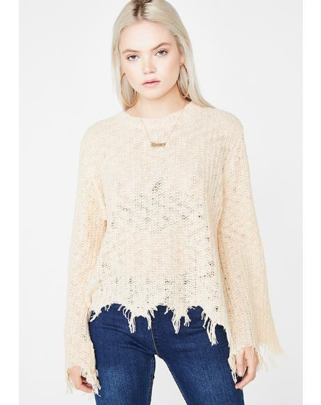 Live Wild Distressed Sweater