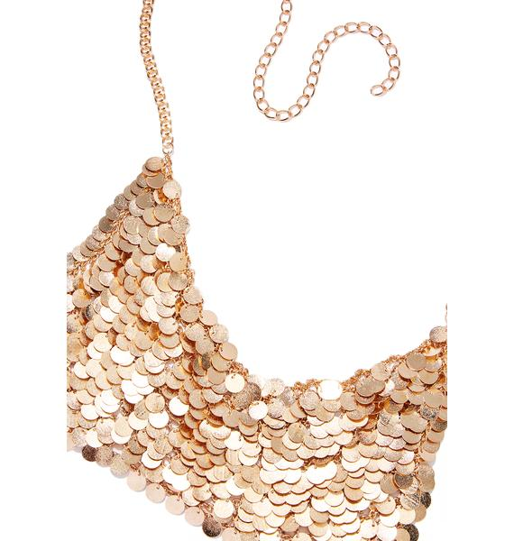 Sunken Treasure Coin Bralette