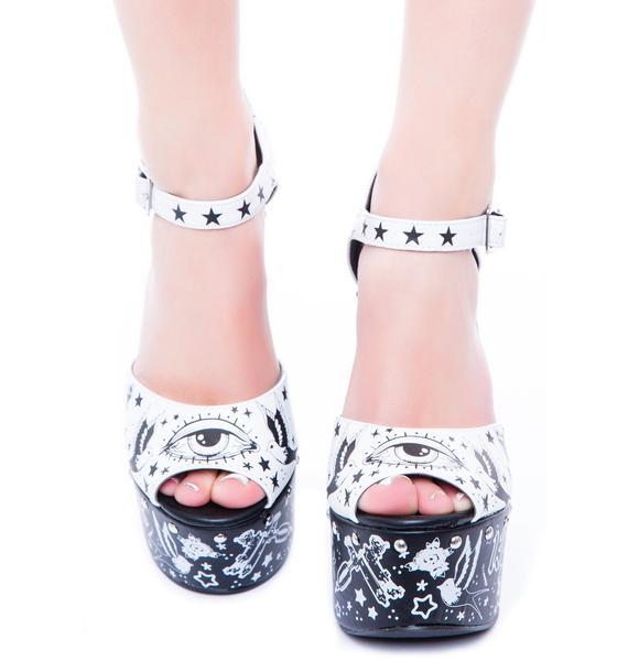 Too Fast Tattoo Platform Sandal
