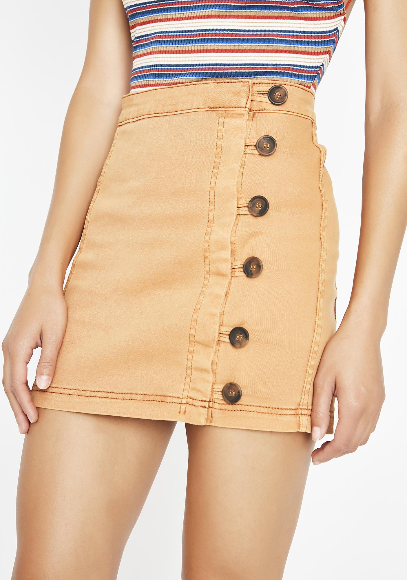 Side Step Mini Skirt