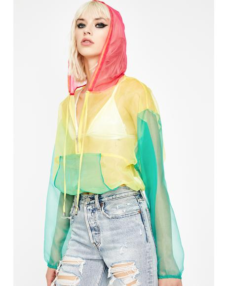 Bae Spectrum Organza Hoodie