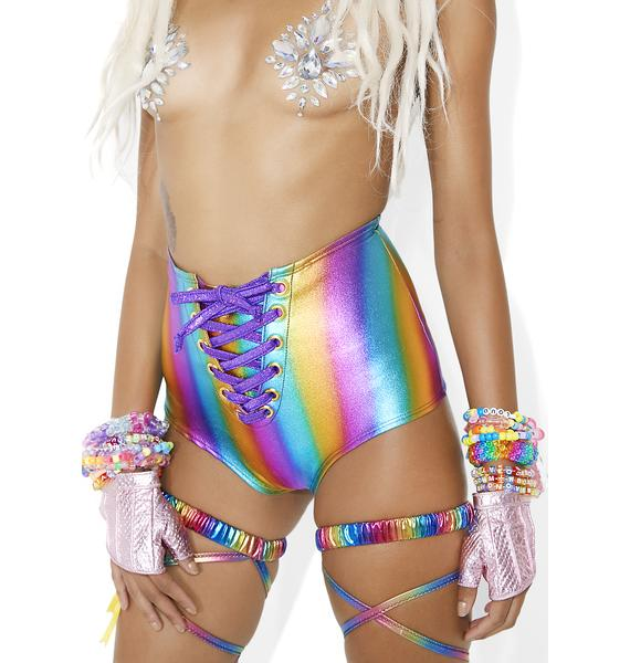 J Valentine Prismatic Static Lace-Up Hot Shorts