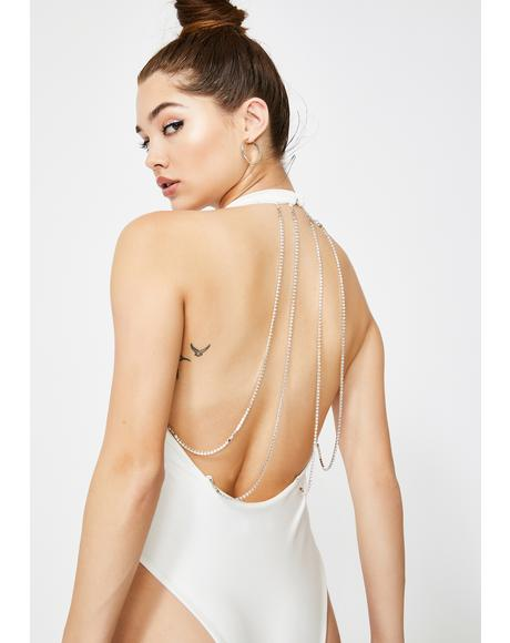 White Glowing Halter Bodysuit