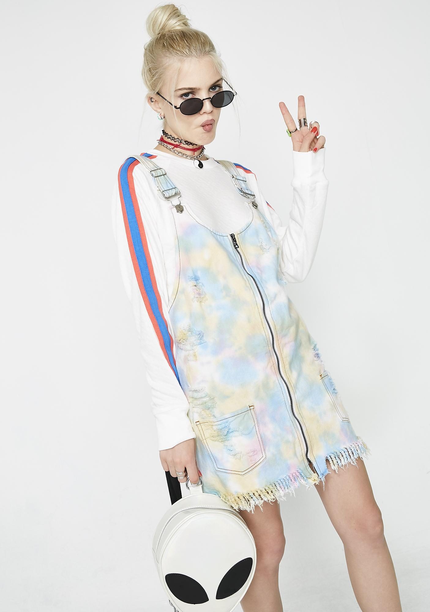 Glamorous Rainbow Cookie Pinafore Dress