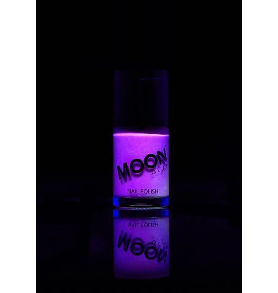 Moon Creations Purple Glow In The Dark Nail Varnish