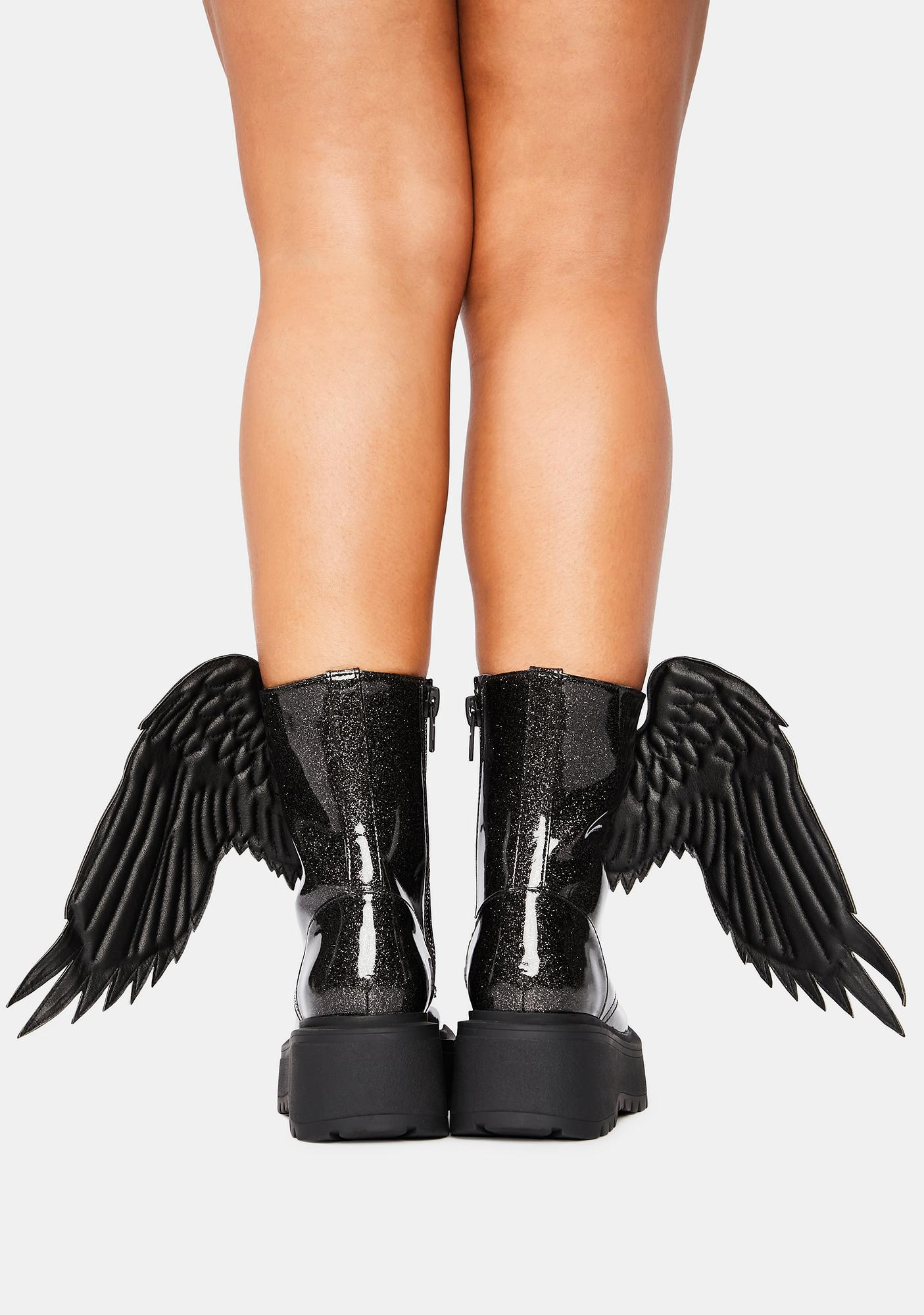 Trickz & Treatz Angel Of Darkness Winged Boots