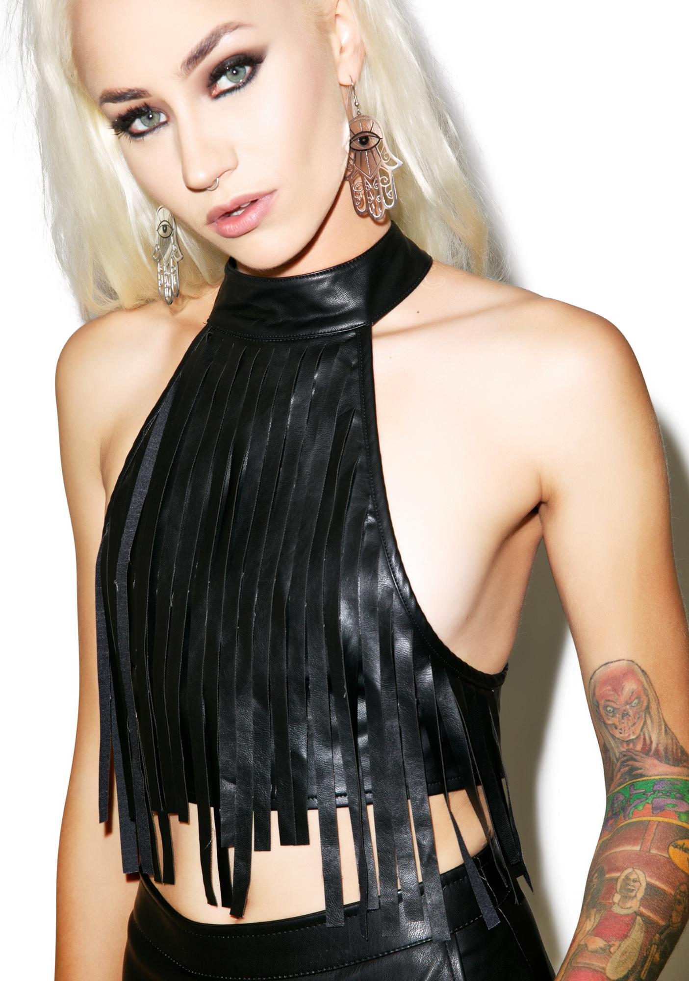 Nightwalker Fringe With Benefits Crop Top