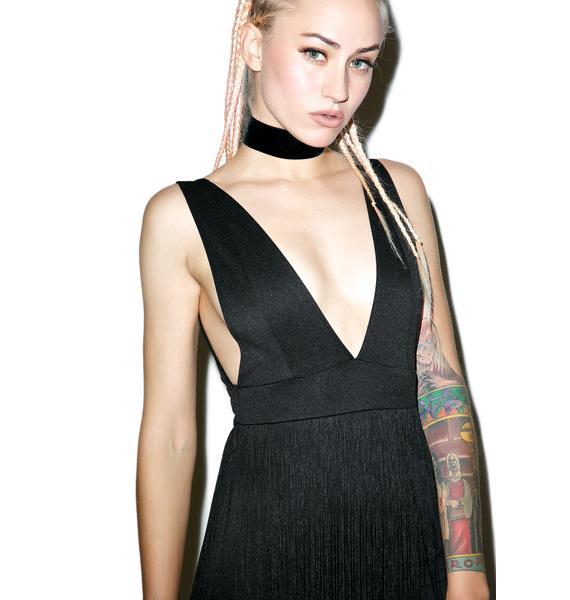Palmistry Fringed Mini Dress