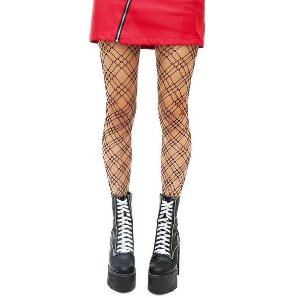 Crossing The Line Net Tights