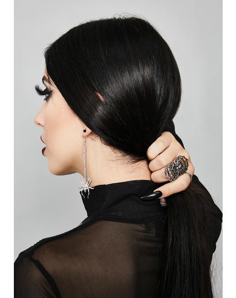Charlotte's Cobweb Spider Earrings