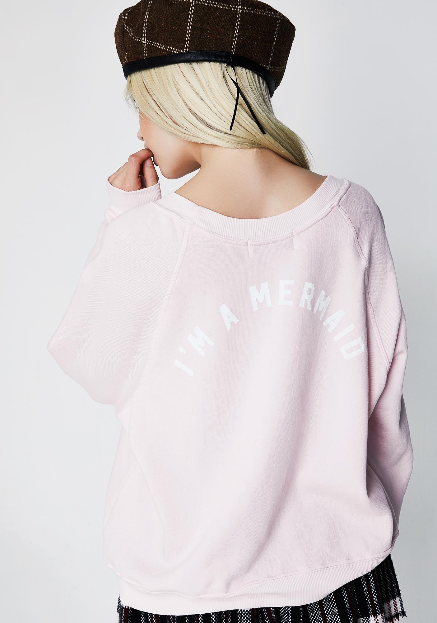 Wildfox Couture I'm A Mermaid Legend Sweatshirt