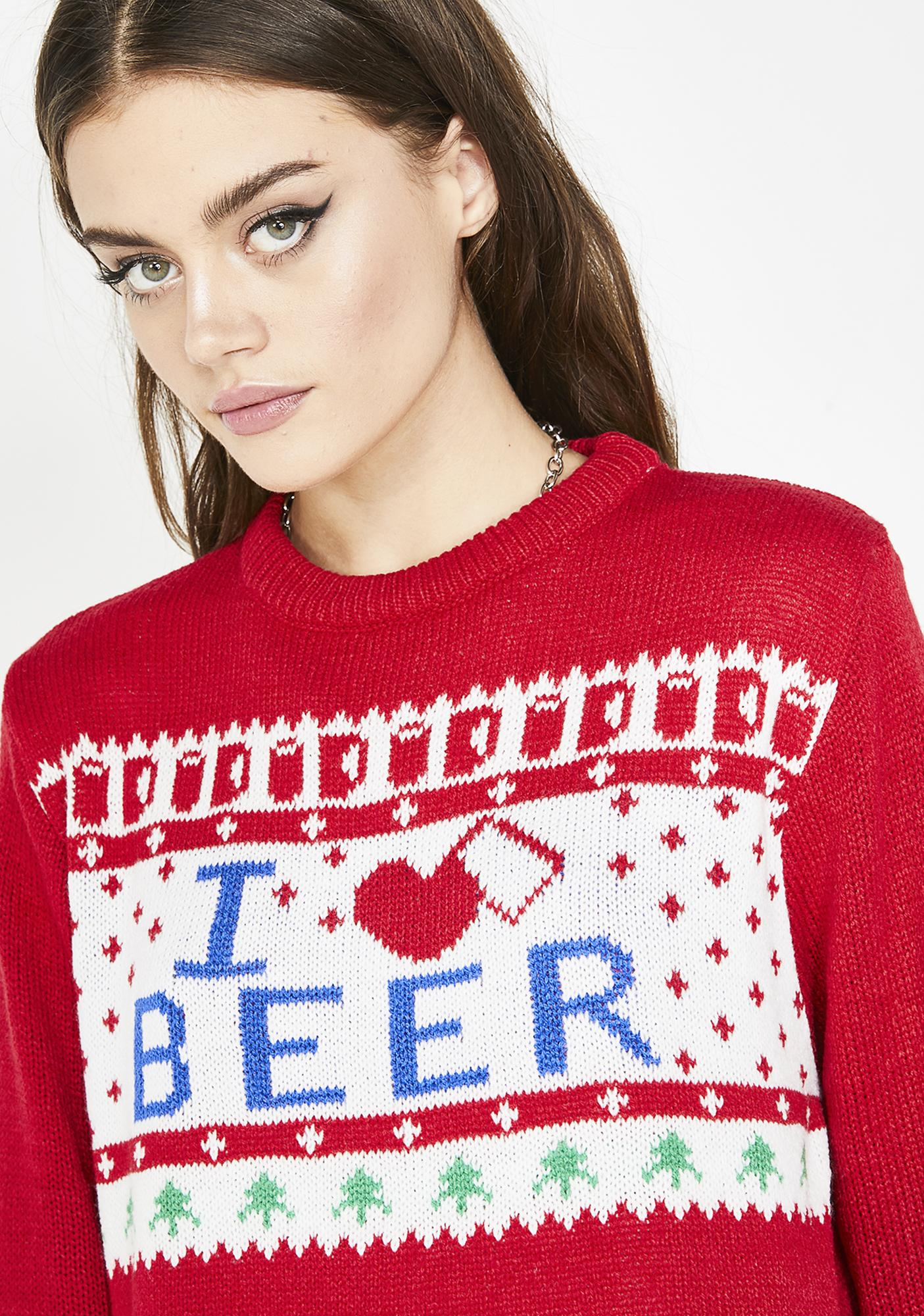 Beer Lover Holiday Sweater