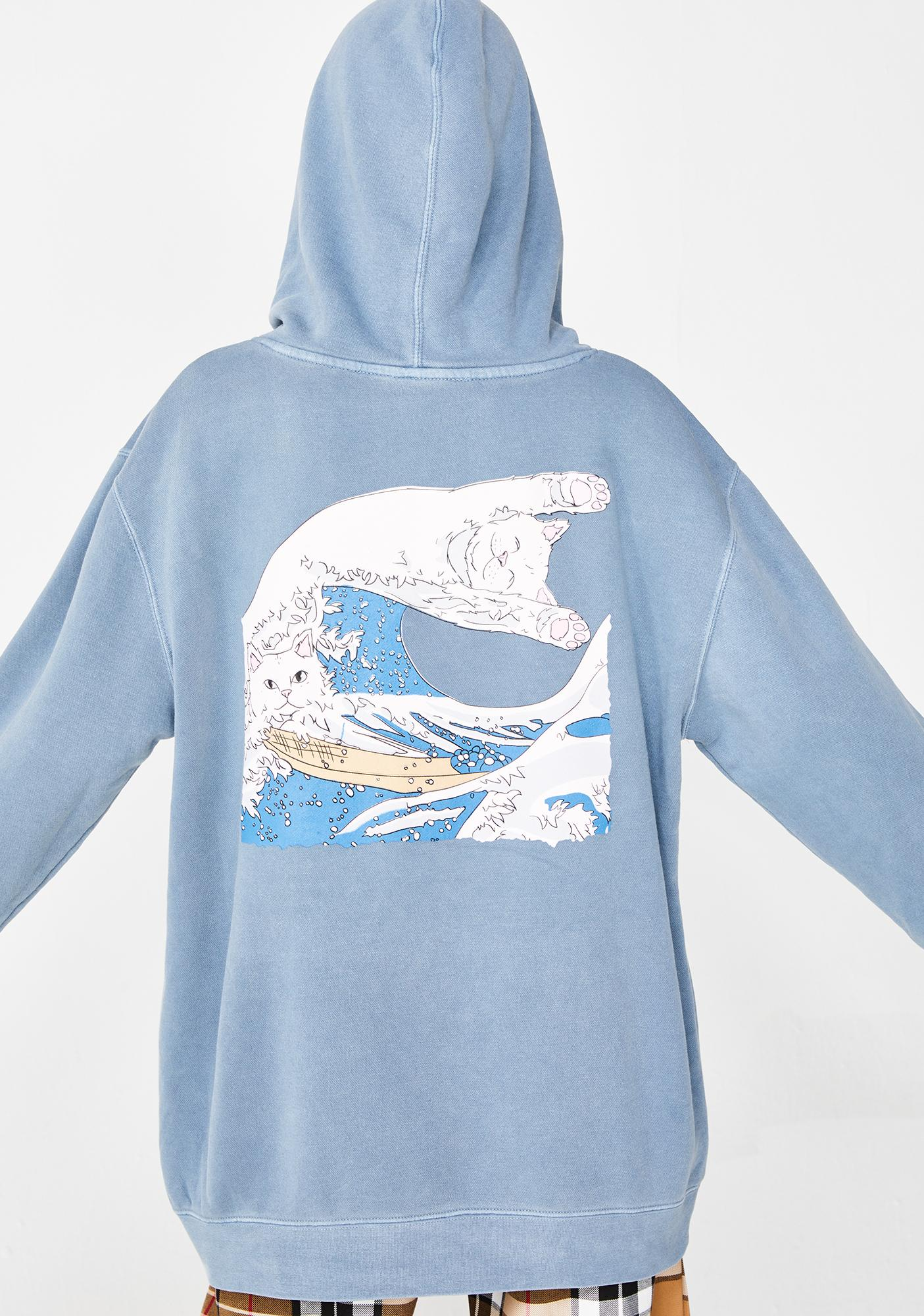 Ripndip Great Wave Pullover Sweater Dolls Kill Basic Pull Over