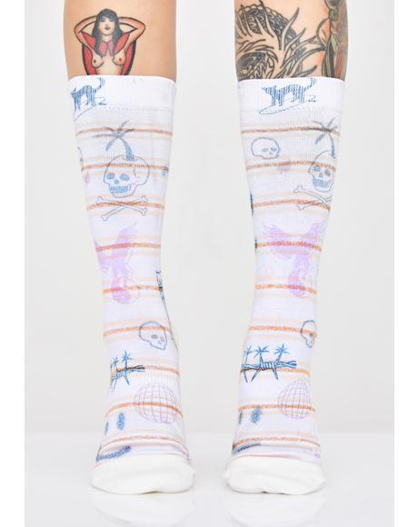 Hippie Moshpit Crew Socks