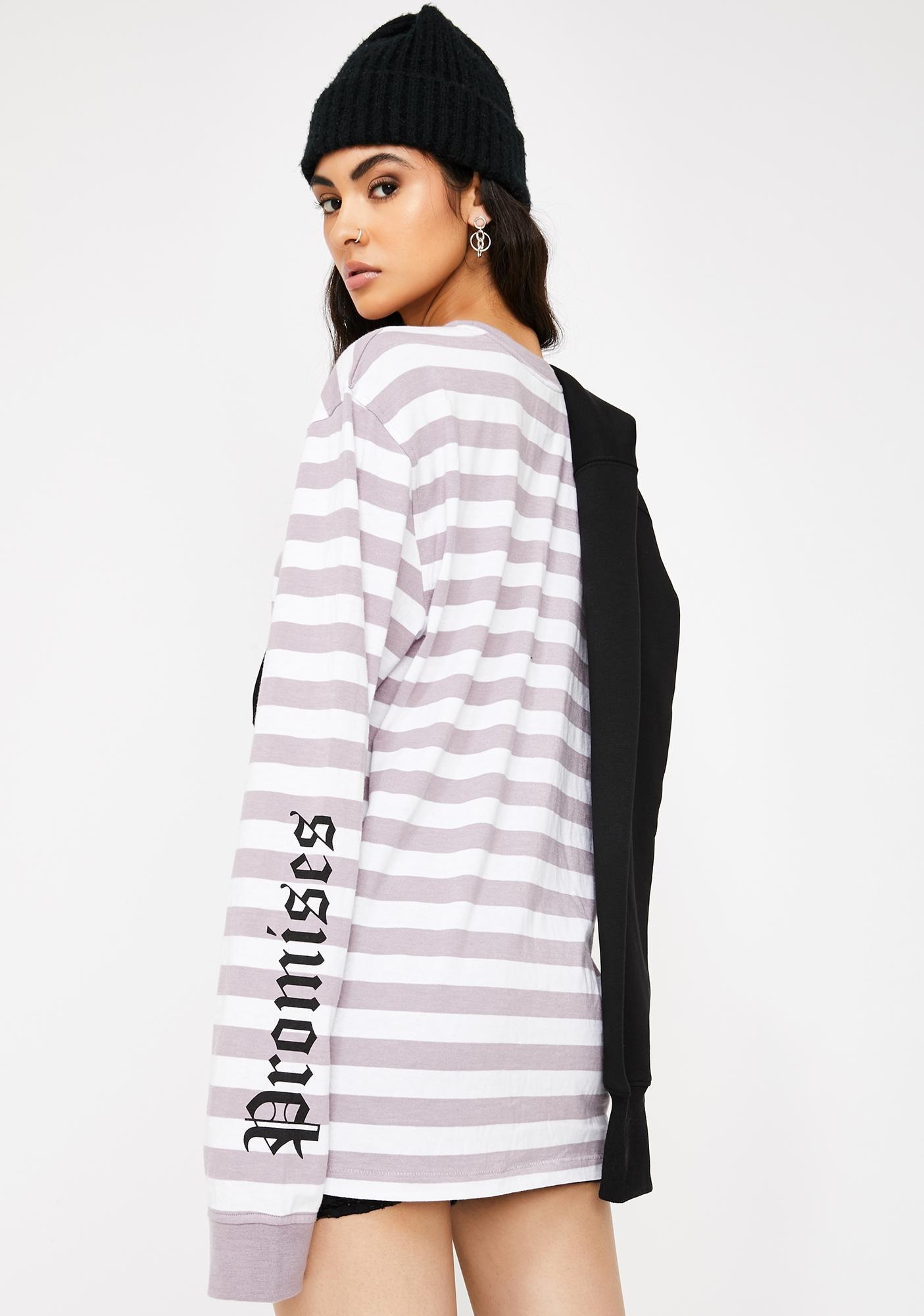 BROKEN PROMISES CO Do Better Stripe Top