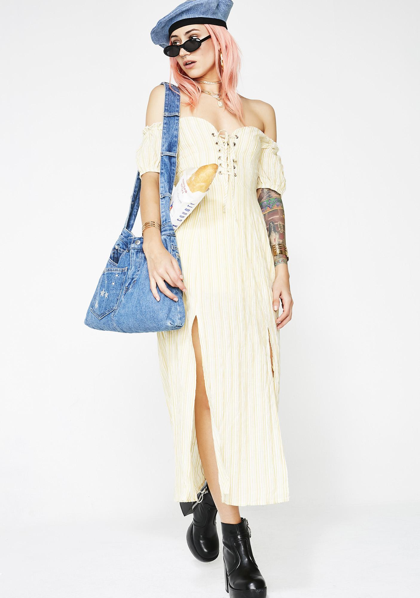 Love Garden Striped Dress