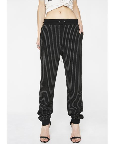 Hustle Hard Striped Joggers