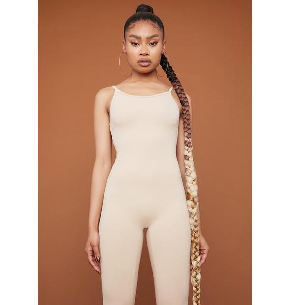 Almond Nothing To Hide Catsuit