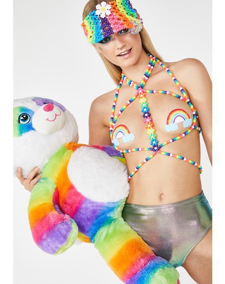 Universal Rainbow Kandi Harness