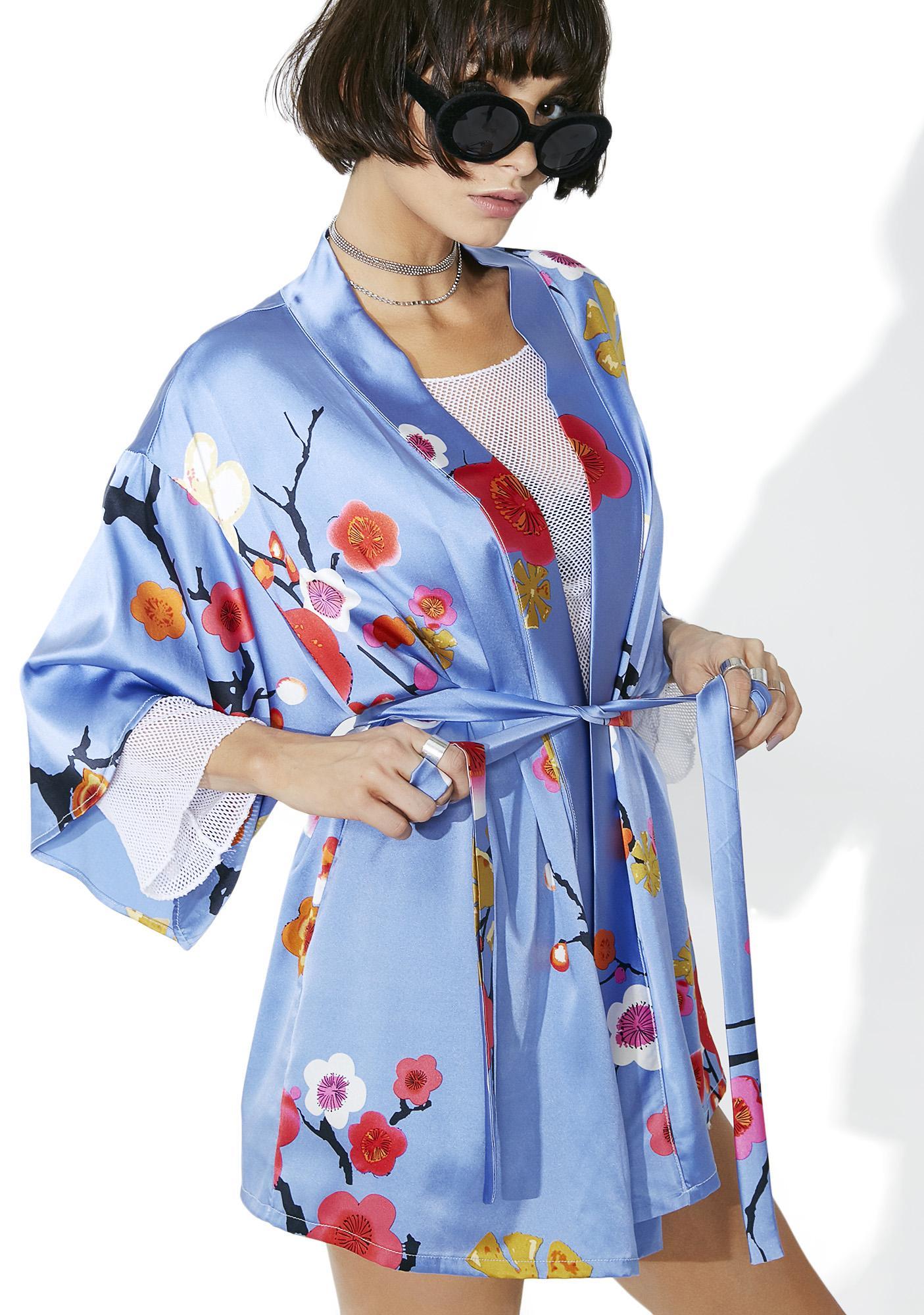 Blossom Baby Silk Floral Kimono