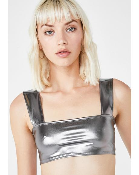 Katie Metallic Crop Top