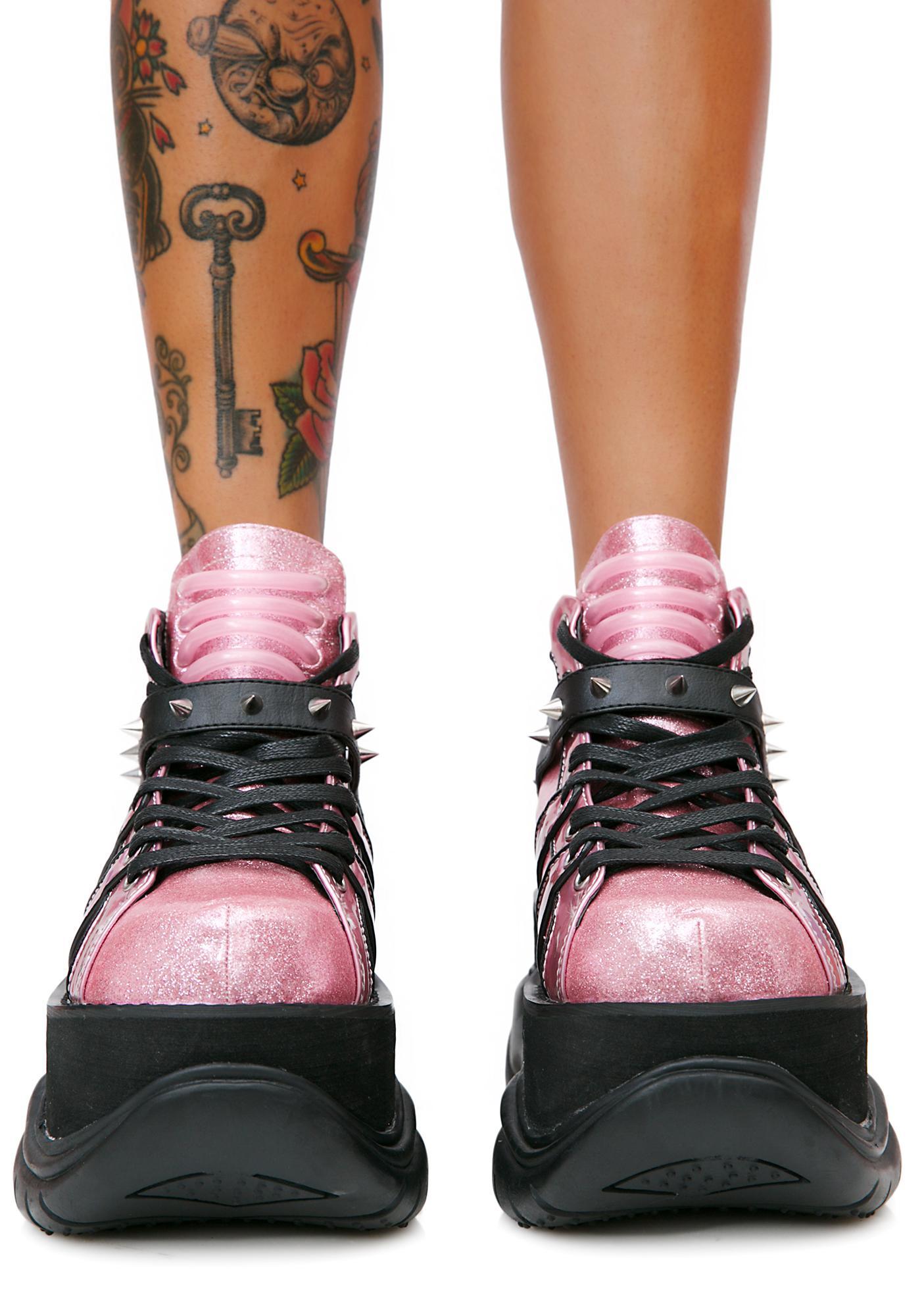 Demonia Candy Machina UV Reactive Platform Sneakers