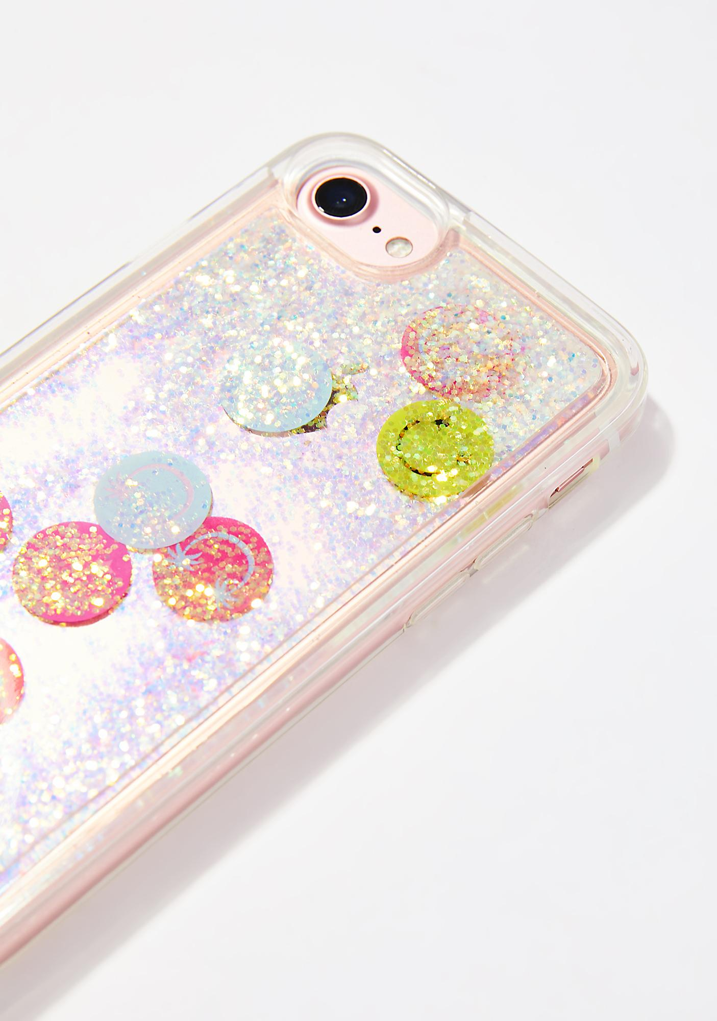 Skinnydip Smiley Glitter iPhone Case