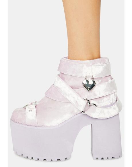 Lavender Cherish Platform Boots