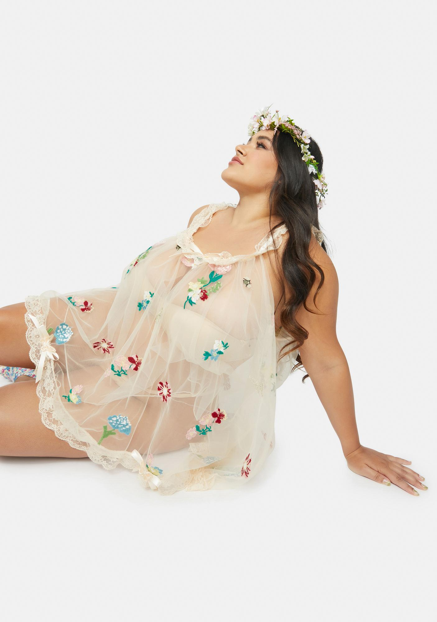 Sugar Thrillz Our Enchanted Meadow Floral Nightie Set
