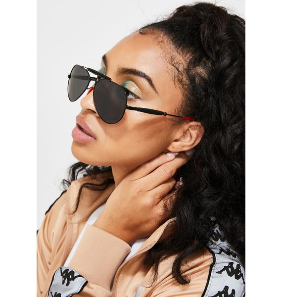 On The Downlow Aviator Sunglasses
