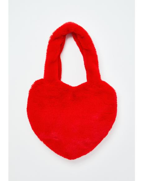 Truly Madly Deeply Fuzzy Mini Bag