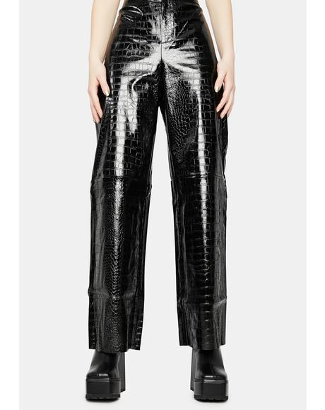 Wild Wonder Vegan Leather Pants