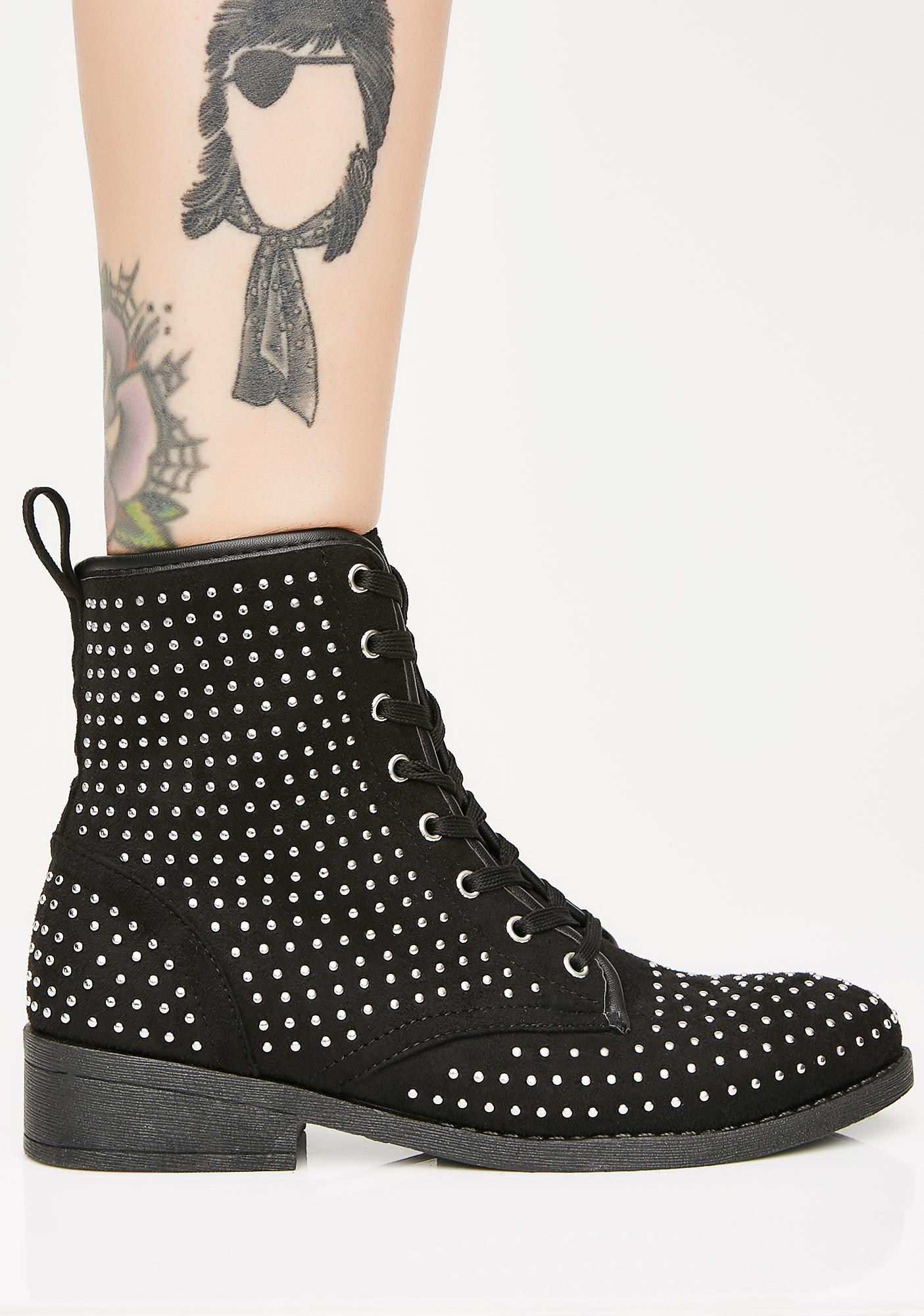 No Manners Combat Boots