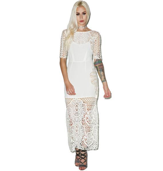 For Love & Lemons Gracey Midi Dress