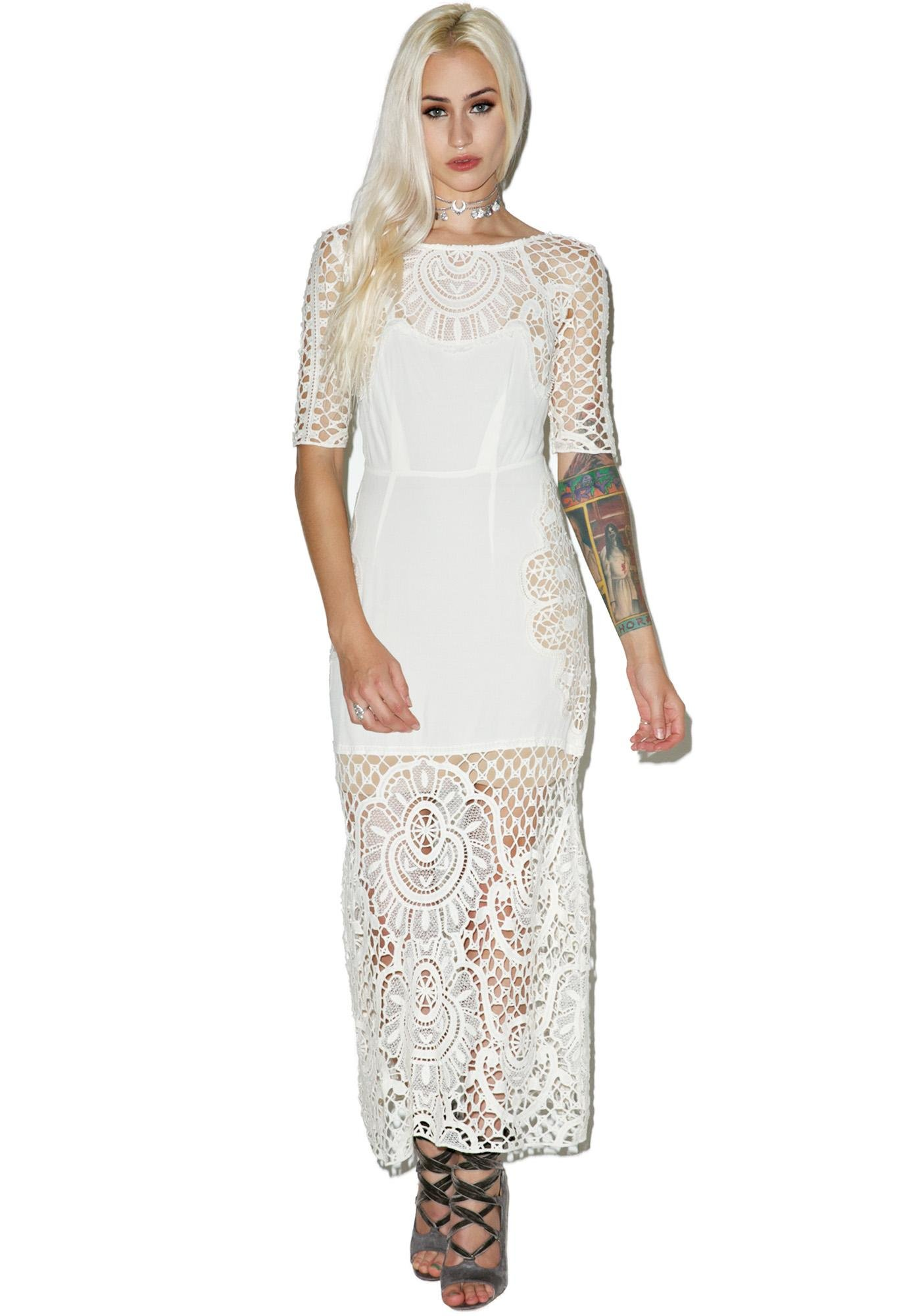 For Love & Lemons Gracey Midi Dress