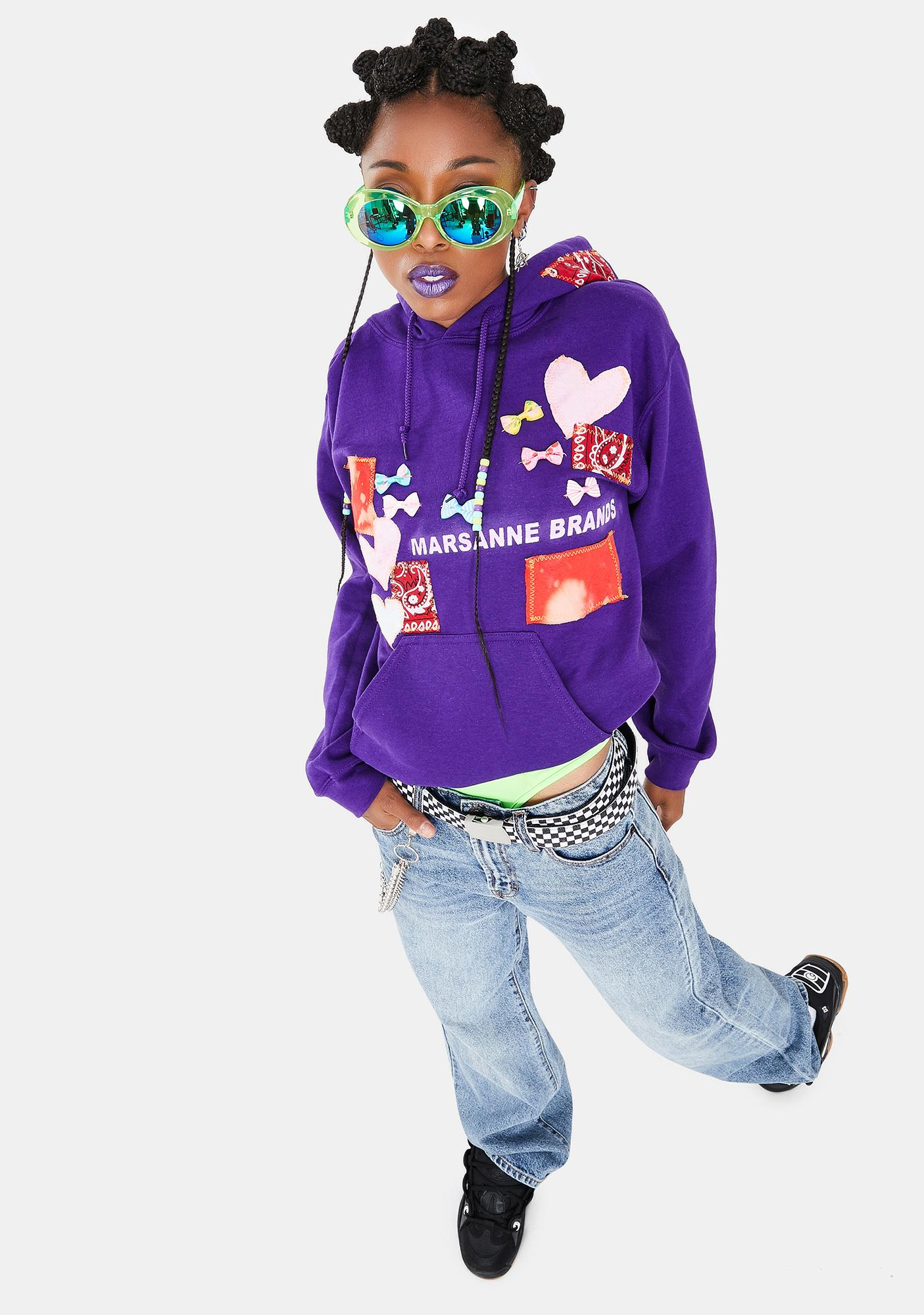 Marsanne Brands Playground Patched Hoodie