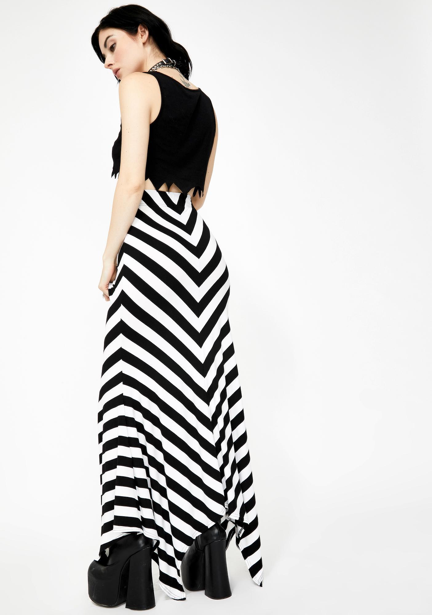 Killstar White Aubrey Maxi Skirt