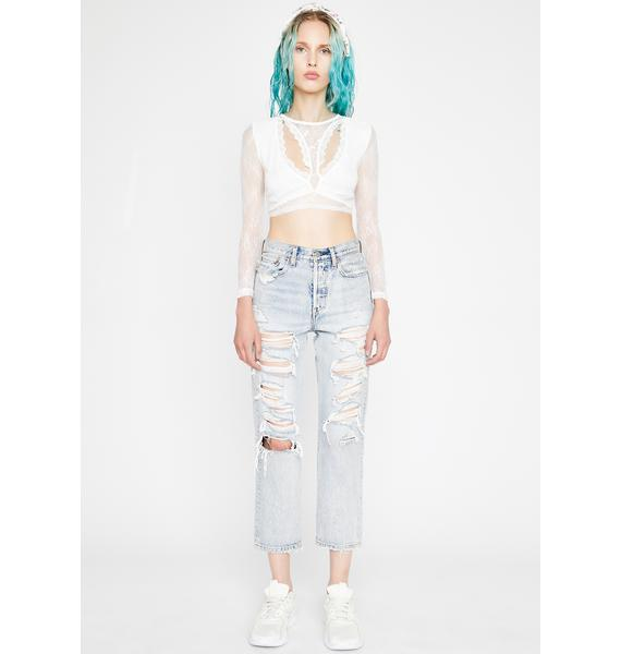 Lyrical Lover Lace Crop Top