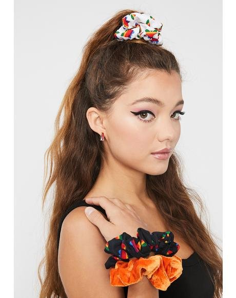 Think Growth 3pc Scrunchie Set