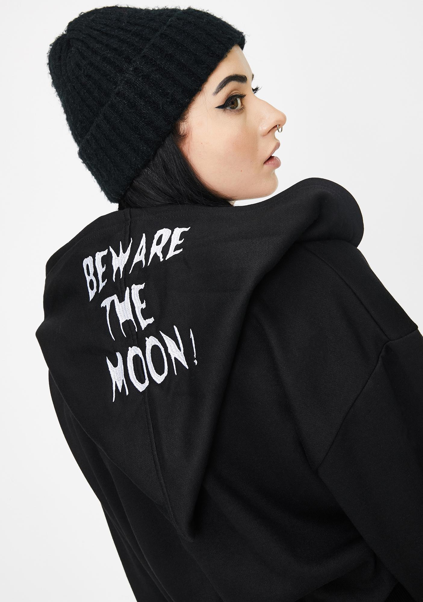 Punk Rave Beware The Moon Hooded Jacket