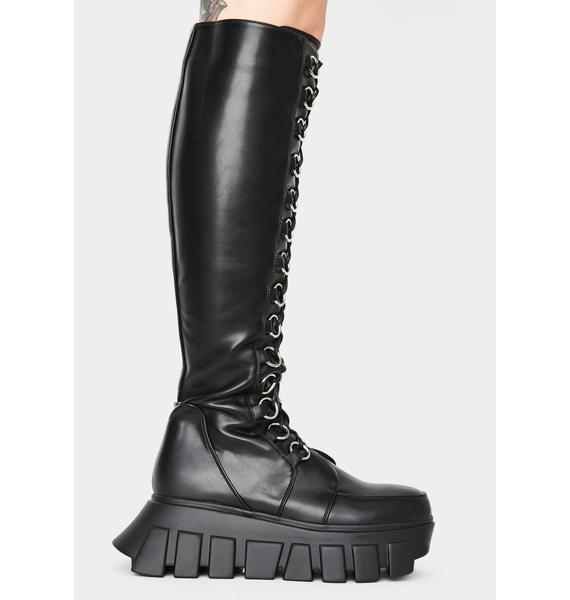 Lamoda Shadows Knee High Platform Boots