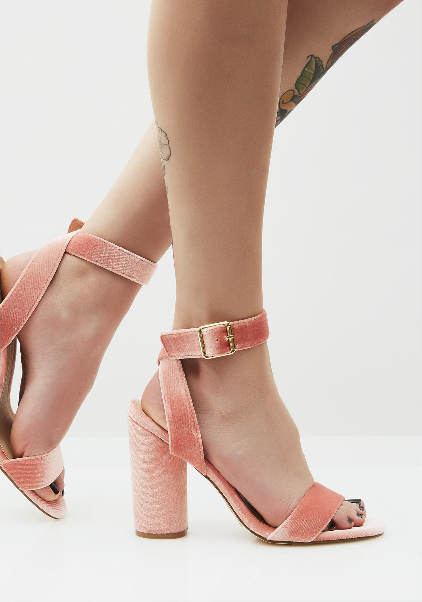Sweet Treat Velvet Heels