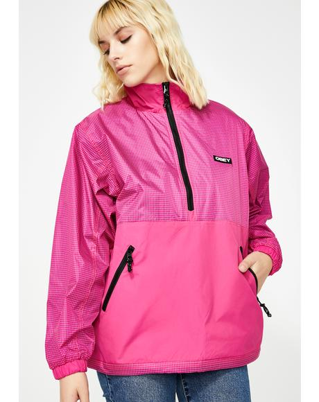 Pink Nore Pop Over Anorak