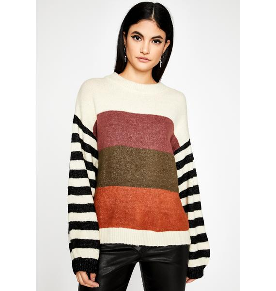 Vino Day Off Striped Sweater