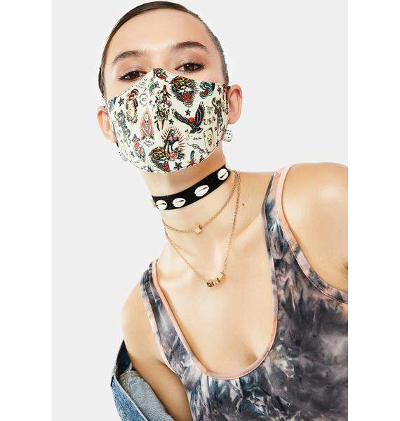 Ed Hardy Flashboard Face Mask