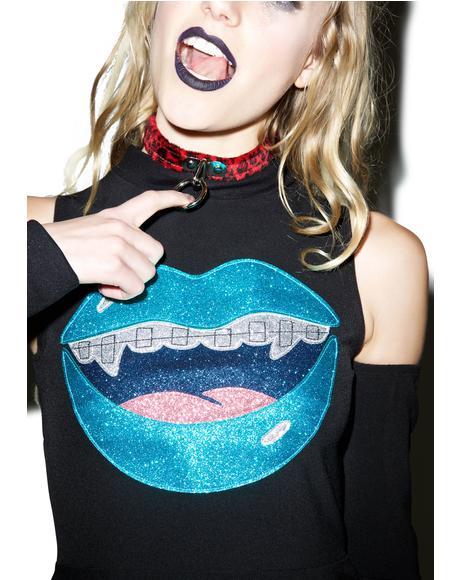 Lilly Glitter Vamp Skater Dress