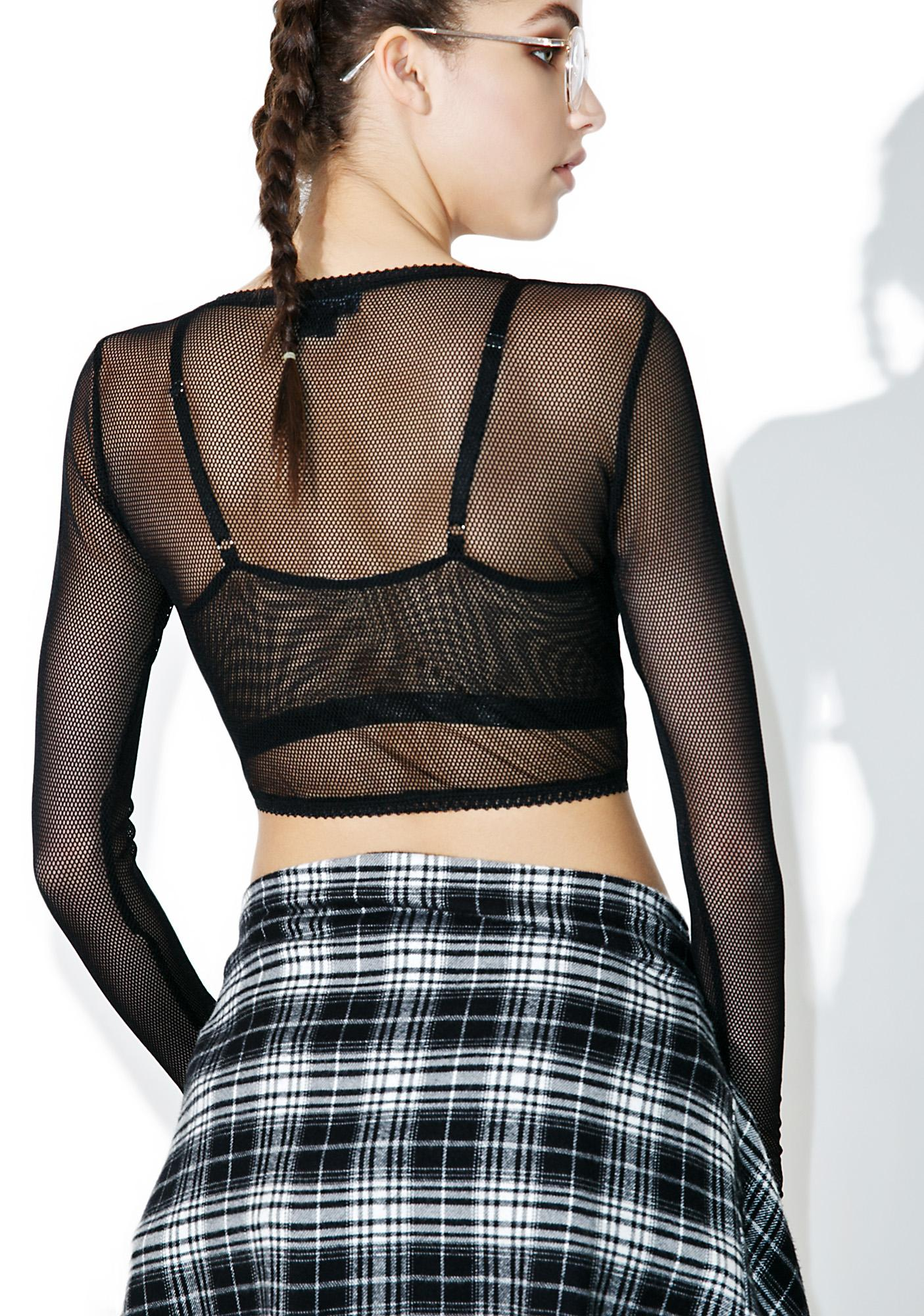 Tripp NYC Fishnet Crop